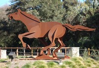 Ted Gall's horse sculpture gallops through Rotary Community Park